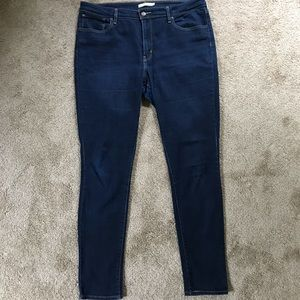 Levi's 721 High Rise Skinny Jeans in Dark Indigo